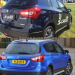 (Maruti) Suzuki S-Cross facelift vs Older model rear three quarter Old vs New