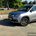 Maruti Vitara Brezza front three quarter far full review