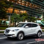 Nissan Kicks official image front three quarters left side in motion