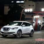 Nissan Kicks official image front three quarters location shot