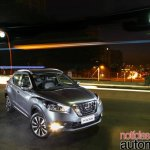Nissan Kicks official image front three quarters night view