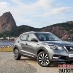 Nissan Kicks official image front three quarters right side scenic view