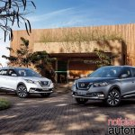 Nissan Kicks official image front three quarters standstill