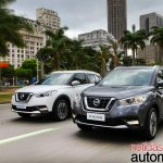 Nissan Kicks official image front three quuarters driving shot