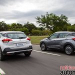 Nissan Kicks official image rear three quarters driving shot