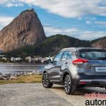 Nissan Kicks official image rear three quarters scenic view