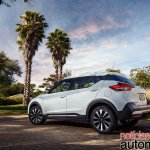 Nissan Kicks official image rear three quarters standstill