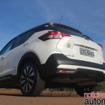 Nissan Kicks rear three quarters ground view
