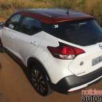 Nissan Kicks rear three quarters second image