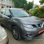 Nissan X-Trail Hybrid front three quarters spy shot