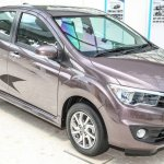 Perodua Bezza sedan front quarter launched for sale in Malaysia
