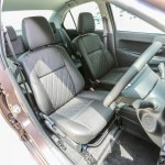 Perodua Bezza sedan front seats launched for sale in Malaysia