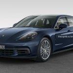 Porsche Panamera Shooting Brake front three quarters rendering