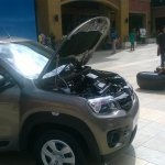 Renault Kwid engine bay side view
