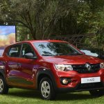 Renault Kwid front three quarters right side Kenya launch