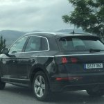 Second-gen 2017 Audi Q5 rear three quarters spy shot