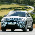 Skoda Kodiaq front three quarter photographed
