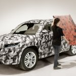 Skoda Kodiaq front three quarters camouflaged