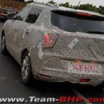 Ssangyong Tivoli compact SUV spied in Ahmedabad, shows LED taillights