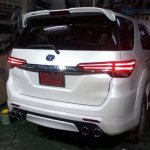 Styling kit rear converts existing Toyota Fortuner to 2016 Toyota Fortuner