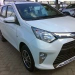 Toyota Calya front quarter arrives at dealership
