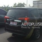 Toyota Calya rear three quarters spy shot