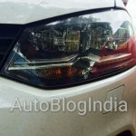 VW Polo TSI BlueMotion headlamp spied in India