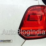 VW Polo TSI BlueMotion taillamp spied in India