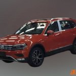 VW Tiguan XL front three quarter spied undisguised in China
