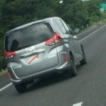 2016 Honda Freed rear three quarters spy shot