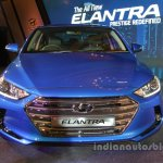 2016 Hyundai Elantra blue front launched in India