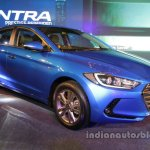 2016 Hyundai Elantra front three quarter blue launched in India