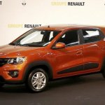 Brazilian-spec Renault Kwid front three quarter showcased in new color