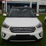Hyundai Creta Anniversary Edition front arrives at dealership