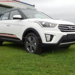 Hyundai Creta Anniversary Edition front quarter arrives at dealership