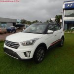 Hyundai Creta Anniversary Edition front three quarter arrives at dealership
