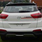Hyundai Creta Anniversary Edition rear arrives at dealership
