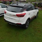 Hyundai Creta Anniversary Edition rear quarter arrives at dealership