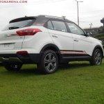 Hyundai Creta Anniversary Edition rear three quarter arrives at dealership