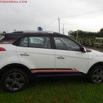 Hyundai Creta Anniversary Edition side arrives at dealership