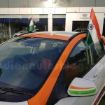 Hyundai Grand i10 Independence Day Edition roof seen at dealership