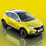 Lada XCODE Concept front three quarters elevated view