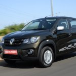 Renault Kwid 1.0 MT front three quarter In Images