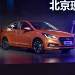 2017 Hyundai Verna front three quarter makes world premiere