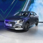 2017 Hyundai Verna front three quarter silver makes world premiere