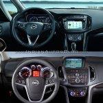 2017 Opel Zafira vs 2011 Opel Zafira dashboard