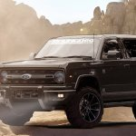 2020 Ford Bronco front three quarters rendering fourth image