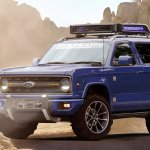 2020 Ford Bronco front three quarters rendering seventh image