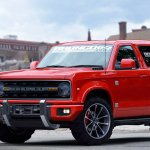 2020 Ford Bronco front three quarters rendering sixth image