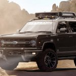 2020 Ford Bronco front three quarters rendering third image